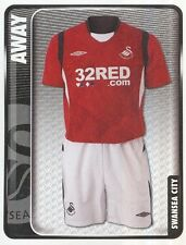 344 AWAY KIT ENGLAND SWANSEA CITY.FC STICKER FL CHAMPIONSHIP 2010 PANINI