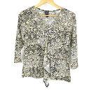 Clara Sun Woo Top Size XS Womens Black Tan Leopard Animal Print Ruffle Shirt