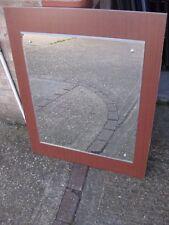 Wall Mounted Mirror, Bedroom, Dressing Table - Bevelled Edge, Wooden Backboard