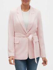 NWT Banana Republic Factory Blush Pink sz 14 Soft Tie-Waist Long Blazer