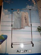 Adjustable Collapsible Telescopic Clothing Clothes Rack Garment Hanging Rack Nob