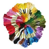 50PCS Cotton DMC Cross Floss Stitch Thread Embroidery Multi Skeins Colors Y9U8