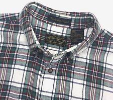 Eddie Bauer Shirt Bainbridge Flannel Mens LT Large Tall Green Red Yellow Plaid