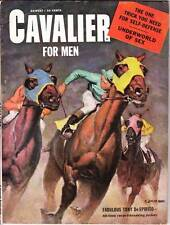 CAVALIER magazine August 1953 - Vargas back cover, Gold Medal paperback ad