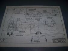 VINTAGE..PIPER PA-8 SKYCYCLE  ..3-VIEWS/CROSS SECTIONS/DETAILS..RARE! (41C)