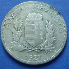 Hongarije - Hungary 1 Pengo 1927 -  KM# 510