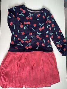 Mädchen Kleid 110/116 Kirschen