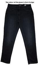 NUOVO Marks Blu Scuro & Spencer Boyfriend Jeans Taglia 16 difetto