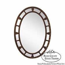 Vintage Oval Gilt French Louis Xv Style Wall Mirror
