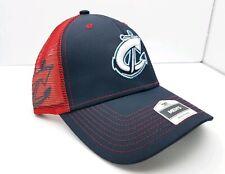 Columbus Clippers Men's Adjustable Trucker Baseball Cap Fan Favorites Navy Red