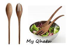Ikea Stockholm 2-Piece Salad Server Set Wooden Flatware Fork Spoon NEW