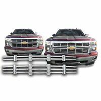 2014-2015 Chevrolet Silverado 1500 Z71 2 Pc Chrome Grille Insert GI125 Overlay