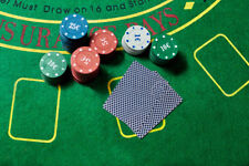 SET KIT CARTE DA POKER 24 FICHES CHIPS FISH TEXAS HOLD'EM GIOCHI DI CARTE