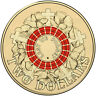 2015 Australian Two Dollar $2 coin - ANZAC RED Remembrance Lest we Forget UNC
