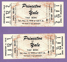 Princeton Tigers v Yale Bulldogs Football Yale Bowl Unused Tickets Nov 11 1978