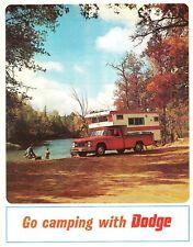 1967 Dodge Pickup Truck A 100 Motor Home Wagon Go Camping Dealer Sales Brochure