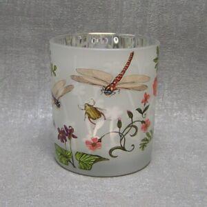 Formano Windlicht Teelichthalter Sommerzeit Schmetterling  Libelle Blume groß