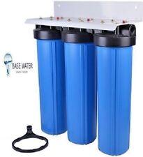 """Well Water Filter (3) Big Blue 20""""x4.5"""" - Sediment/KDF85-GAC/Carbon CTO 1""""  W/PR"""