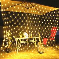 3M LED String Fairy Lights Net Mesh Curtain Xmas Wedding Party Outdoor Home Lamp
