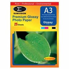 Sumvision A3 Premium Inkjet Printer Photo Glossy Paper 200gsm 25 Sheets Pack