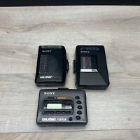 PARTS ONLY LOT x3 Sony Walkman Cassette Tape WM-FX42, WM-FX10, WM-AF23