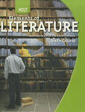 Elements of Literature; Essentials of British and World Literature, sixth course