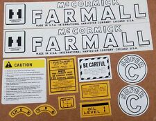 FARMALL SUPER C DECAL SET.