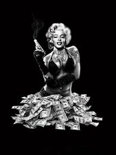 New Licensed Queen Size Marilyn Monroe Mink Plush Blanket Money Shot