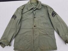 WW2 USMC HBT Shirt / Jacket Named Sergeant Stripes Size 42/44