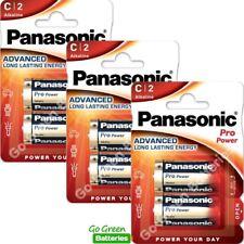 6 x Panasonic C Size Pro Power Alkaline Batteries LR14, MN1400, MX1400, BABY