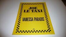 VANESSA PARADIS JOE LE TAXI ORIGINAL UK 1987 SHEET MUSIC