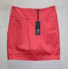 TOKITO CITY Brand Coral Pink Pleat Front Pockets Mini Skirt Size 10 BNWT #TN113