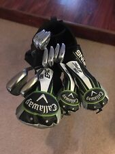full set of callaway golf clubs. Apex irons 4-p, epic driver, 3 wood and 5 wood