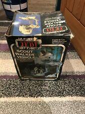 VINTAGE STAR WARS BI LOGO SCOUT WALKER VEHICLE ORIGINAL  BOX ONLY 1982