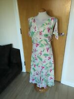 Ladies JOANNA HOPE Dress Size 16 Ivory Pale Yellow Smart Party Wedding Occasion