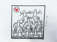 Keith Haring: People, Love. High Quality Color Lithograph