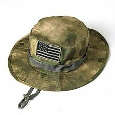 Sturdy & Comfy Tactical Boonie Hat w/ Usa Flag Patch for Sports / Fishing & More