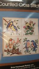"""Golden Bee Counted Cross Stitch """"Birds Patchwork Picture"""" # 60203 New in bag"""