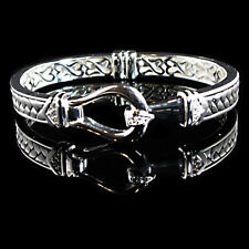 BEAUTIFUL BUCKLE_CZ BANGLE BRACELET__ 925 STERLING SILVER