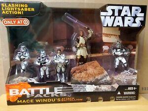 Star Wars Battle Pack Mace Windu's Attack Battalion 187th Corps