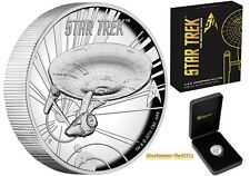 2016 Silver Star Trek USS ENTERPRISE NCC-1701 High Relief Coin