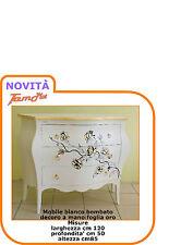 mobile como bombato bianco  decorato a mano foglia oro