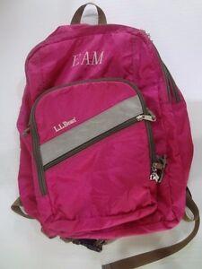 L.L Bean backpack school bag  Magenta