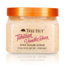 Tree Hut Tahitian Vanilla Bean Shea Sugar Scrub 18oz Ultra Hydrate Exfoliate