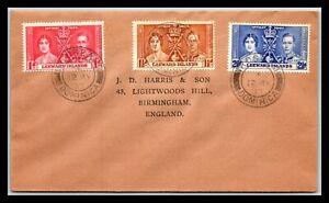 GP GOLDPATH: LEEWARD ISLANDS COVER 1937 _CV685_P04
