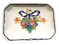 Bernardaud borghese jewelry box porcelain trinket dish floral design  5 x 7 x 3