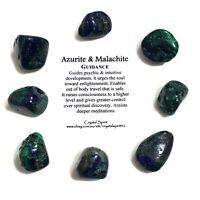 *1* AZURITE MALACHITE Natural Tumbled Stone / Tumble Stone *TRUSTED SELLER*