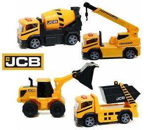 JCB Construction Vehicles Toy Series Digger Loader Crane Skip Lorry Boys Gift
