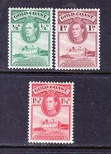 Gold Coast Estampillas Postales -1938 Perf 12 - 3 X-Colección Odds con bisagras de menta
