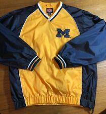 Michigan Wolverines Pullover V-Neck Rain Jacket Windbreaker G-III EUC Men's MED